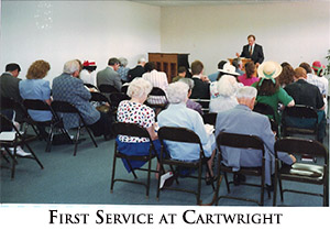 First service at Cartwright